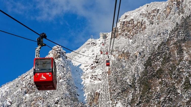 """〈1Day Tour〉Ropeway to See the Grotesque """"Frozen Tree""""&""""Frozen Waterfall"""" & Illumination& Begonia Garde"""