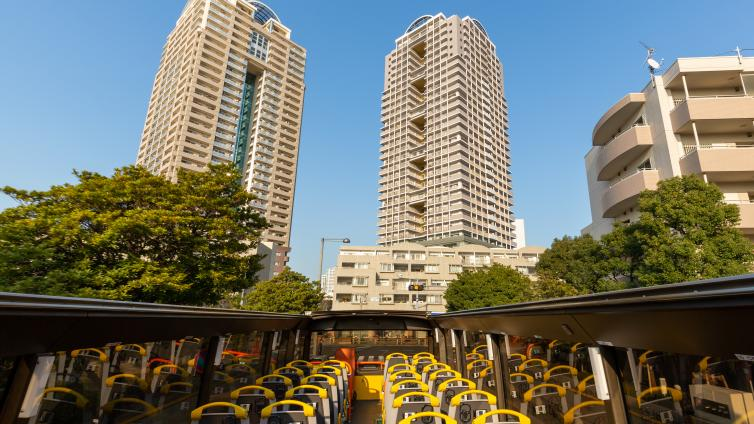 〈70mins〉Tokyo Panorama Drive by Open Top Bus ~ City Course~ [English & Chinese Audio]