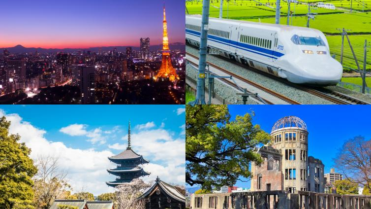 〈7Days PKG〉Golden Route ~Tokyo, Mt. Fuji, Osaka, Kyoto, Hiroshima~(★★★ / 3 stars)