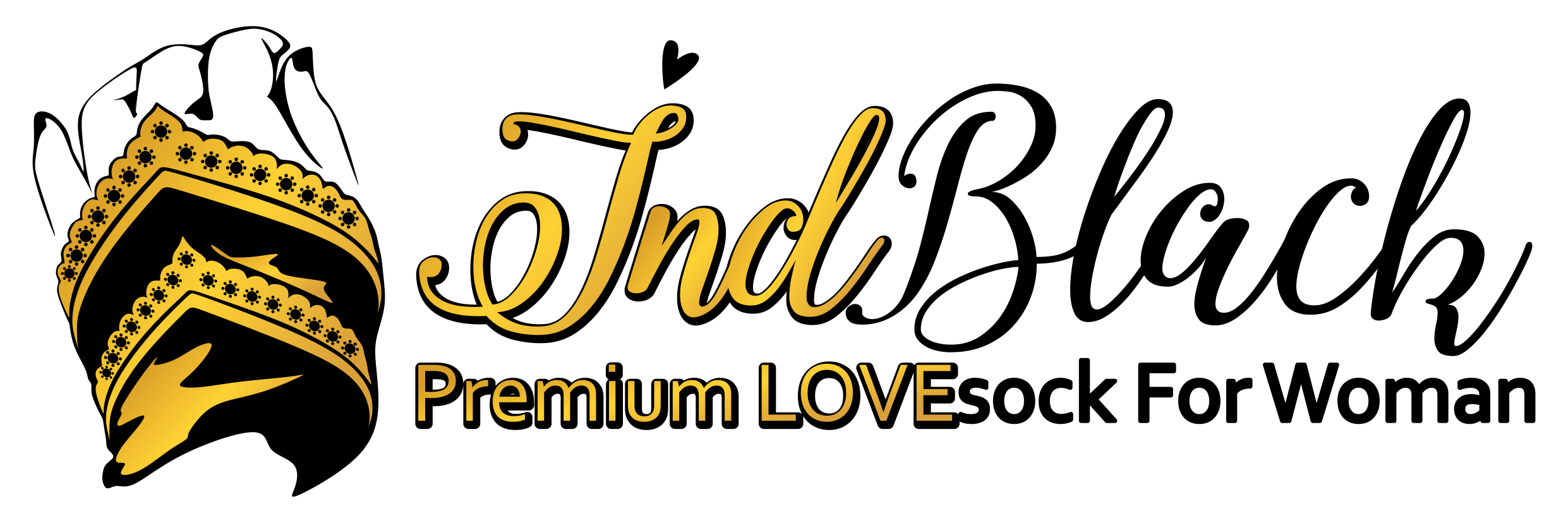 INDBLACK PREMIUM LOVESOCK logo