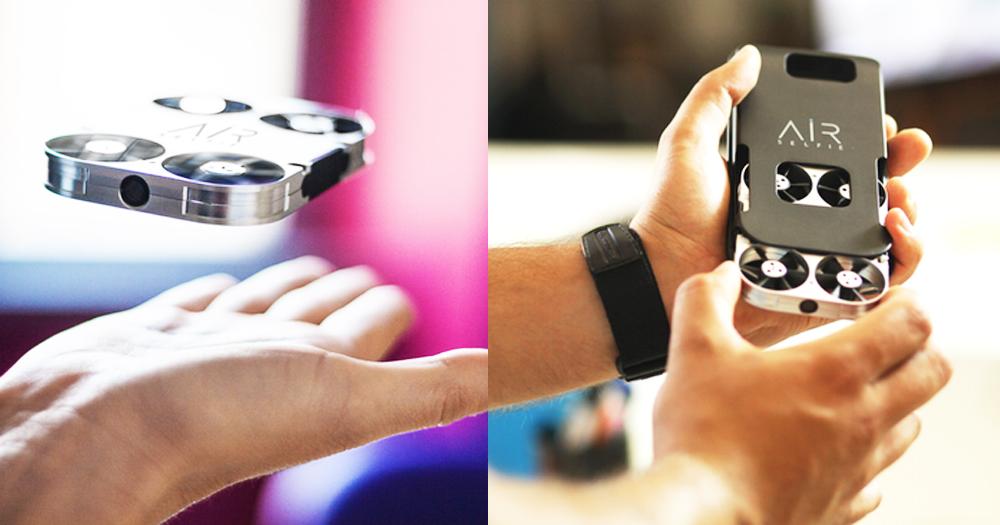 【世界最小】自拍無人機AirSelfie:保護殼同時收納手機,甚至當作充電器