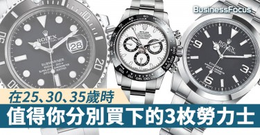 【腕錶世界】在25、30、35歲時,值得你分別買下的3枚勞力士