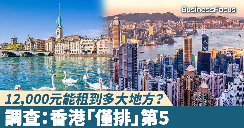 【土地問題】12,000元能租到多大地方?調查:香港「僅排」第5
