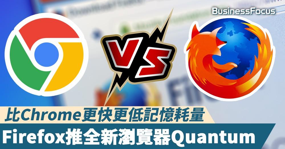 【火狐重生】Firefox推全新版本瀏覽器Quantum,比Google Chrome更快更低記憶耗量