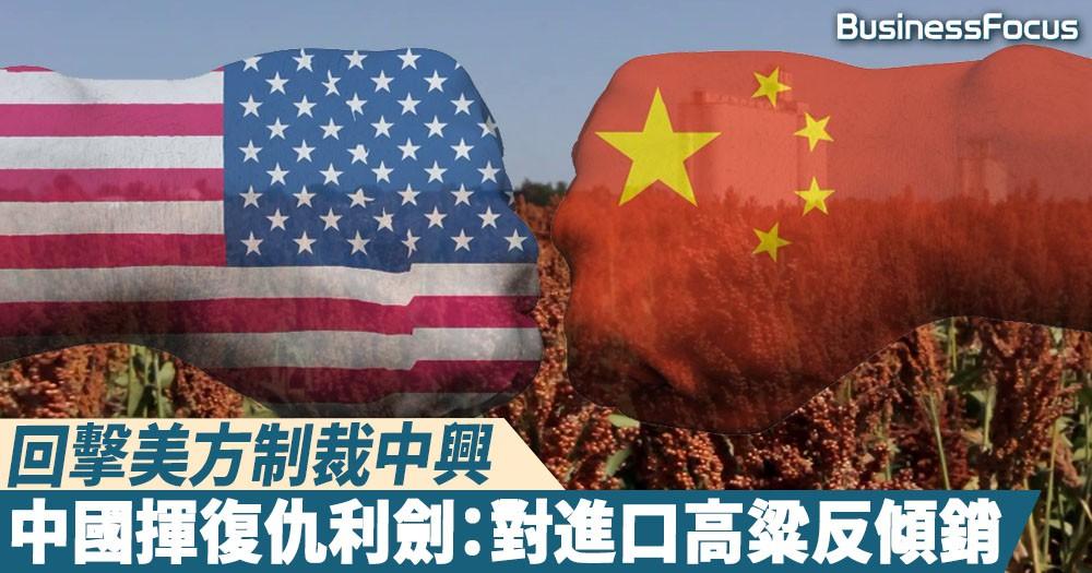 【你來我往】回擊制裁中興,中國揮復仇利劍:對美進口高粱反傾銷