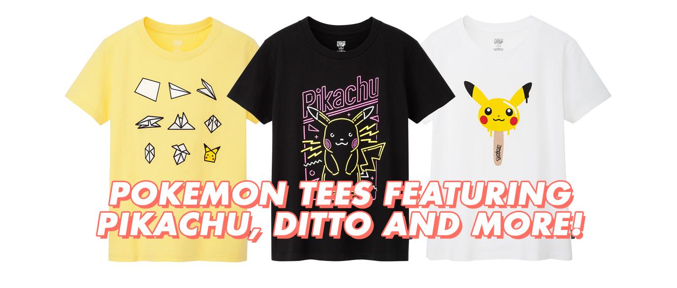 UNIQLO Pokemon UT Grand Prix T-Shirts Singapore