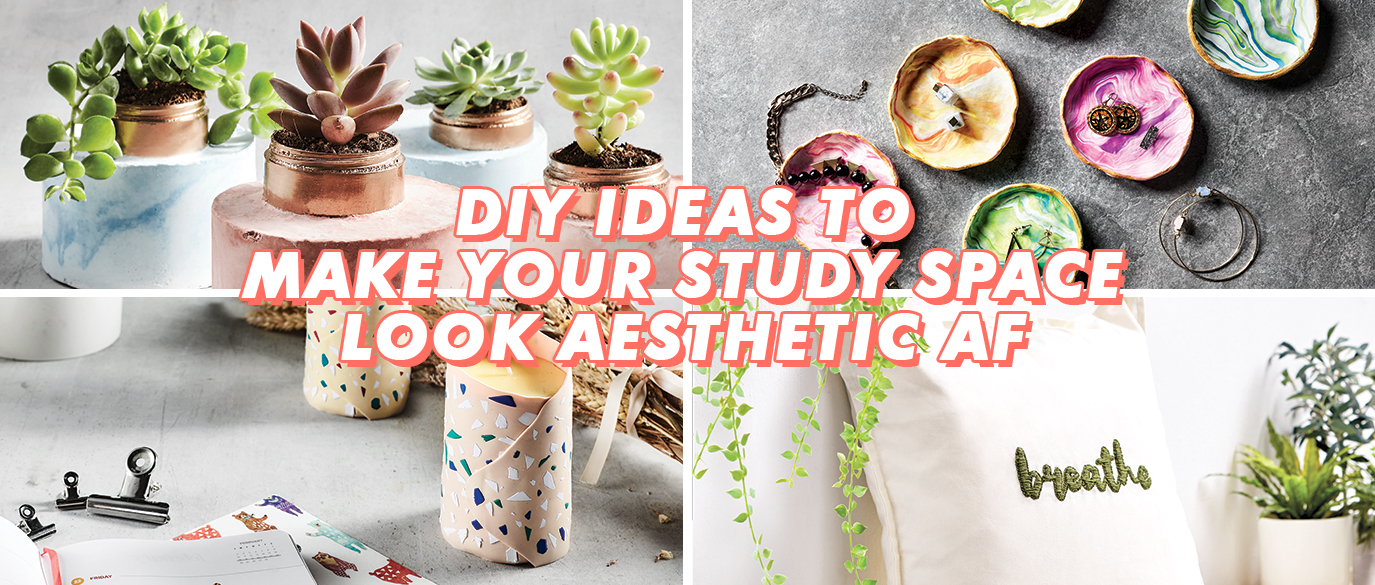 DIY Ideas To Make Your Study Space Look Aesthetic AF