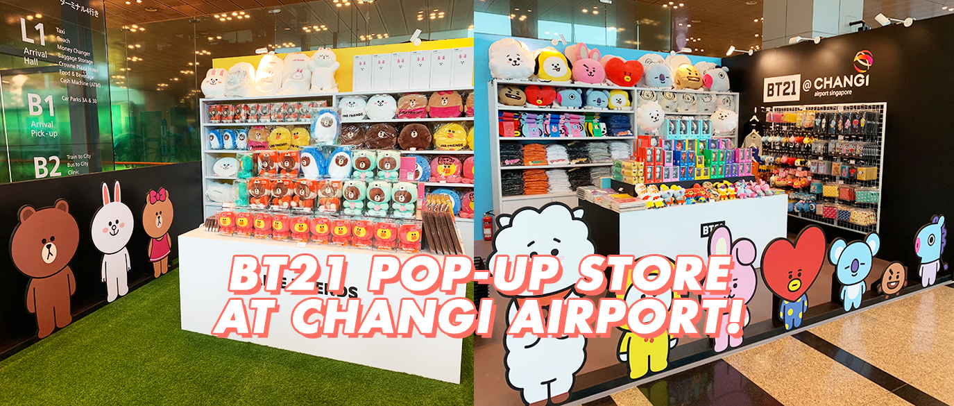 A BT21 & LINE FRIENDS Pop-Up Store Has Landed At Changi Airport