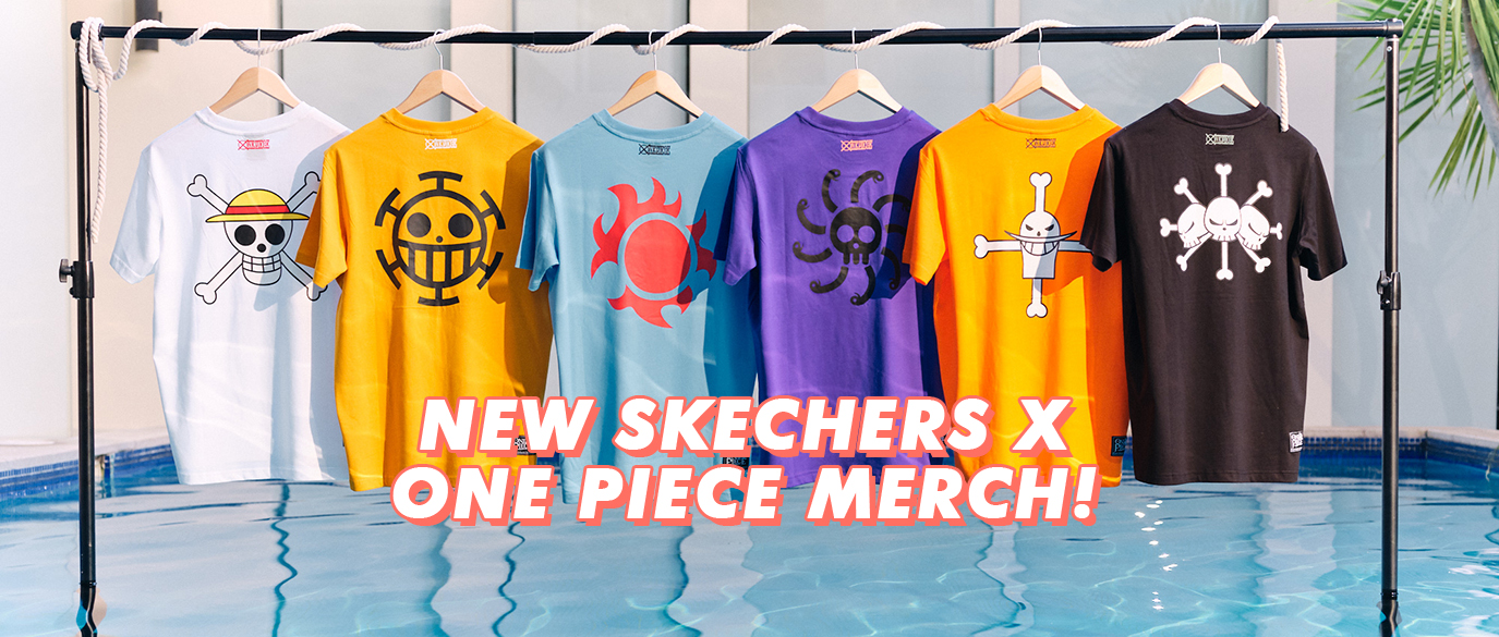 Skechers X One Piece Collection T-Shirts Slides 2019