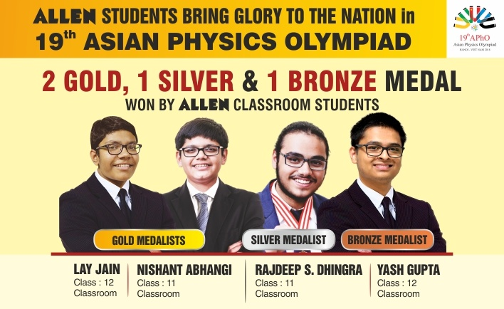 Asian Physics Olympiad 2018 Results by ALLEN Career Institute