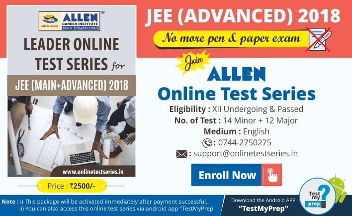 JEE Advanced 2018 Online Exam Test Series by ALLEN