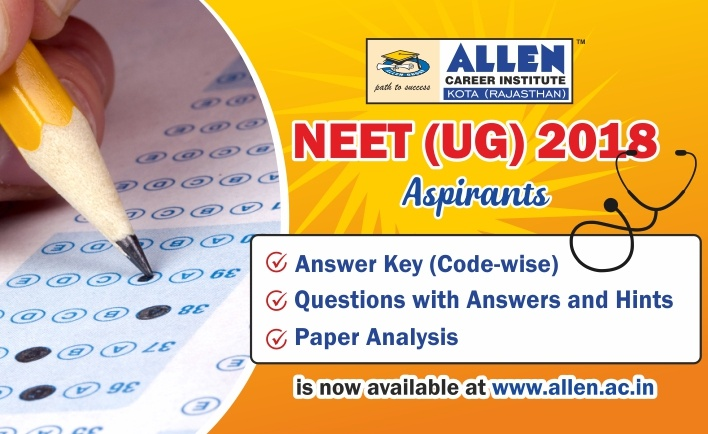 NEET-UG 2018 Paper Answer Key Solutions by ALLEN