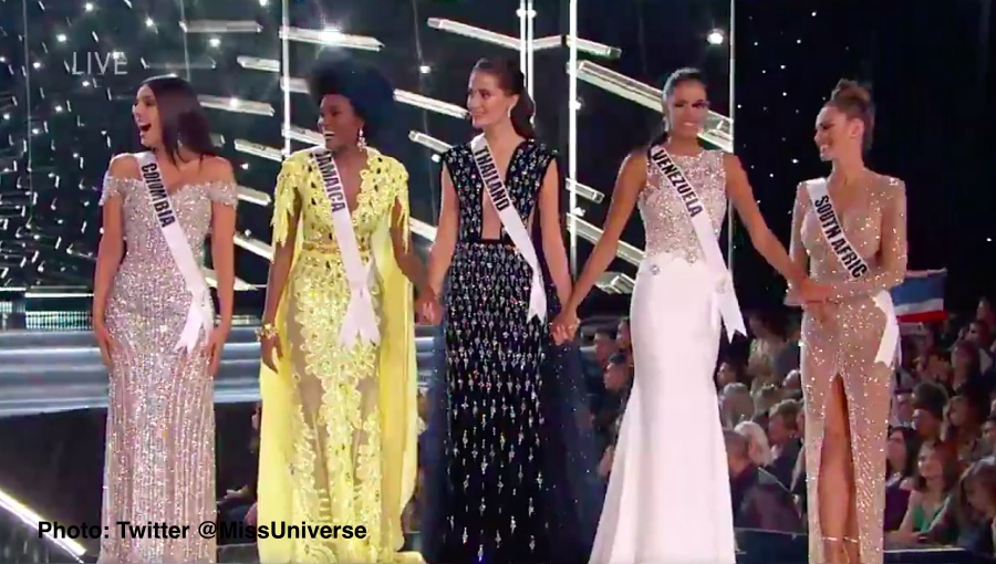 Miss Universe 2017 The Axis >> Thailand's Maria reaches top 5 as Miss South Africa crowned Miss Universe 2017