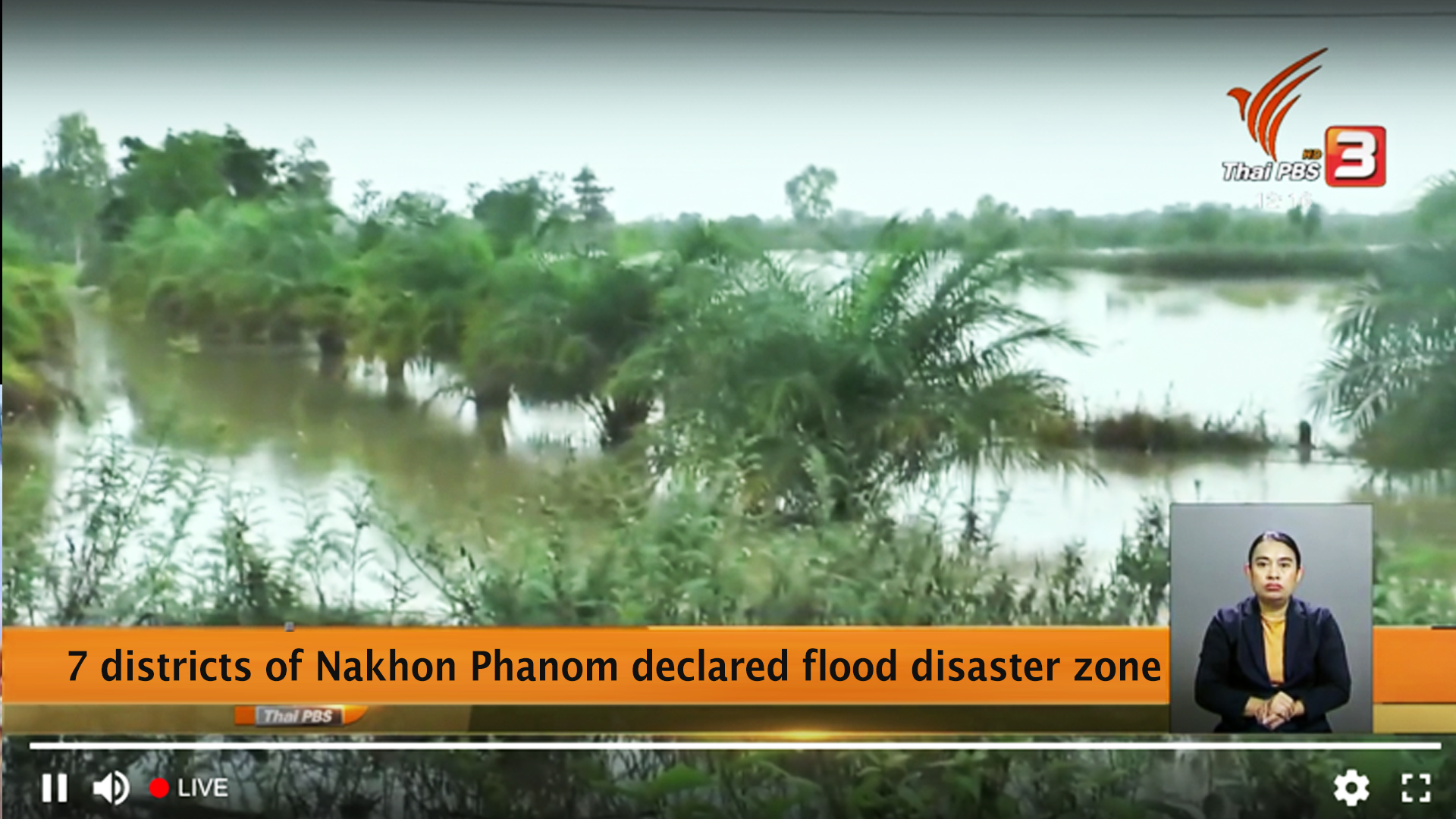 7 districts of Nakhon Phanom declared flood disaster zone