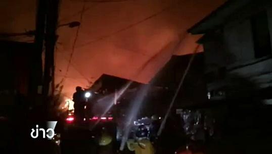 ไฟไหม้บ้านไม้ในชุมชน ซ.โปโล 7 ย่านปทุมวัน