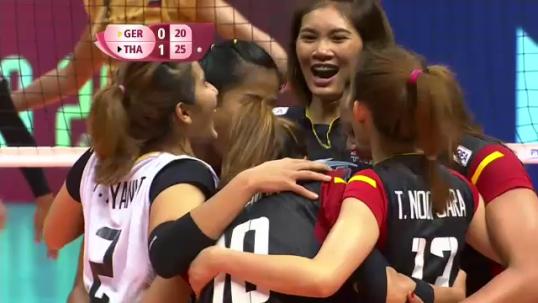ทีมวอลเลย์บอลสาวไทย ชนะ เยอรมนี 3-0 เซตในเวิลด์กรังด์ปรีซ์