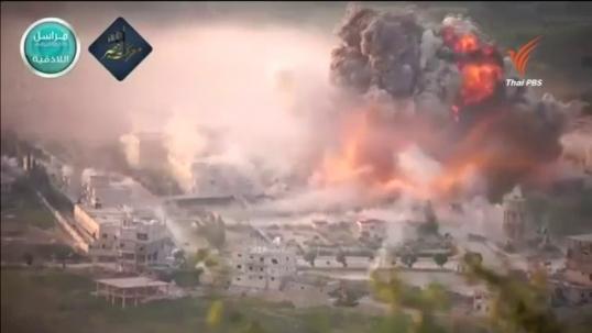 กองทัพซาอุดิอาระเบีย-ชาติพันธมิตร โจมตีฐานที่มั่นกบฏฮูตีในเยเมนอย่างหนัก