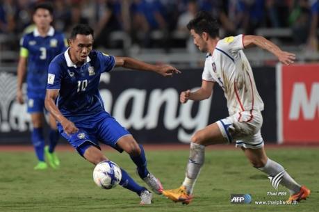ทีมชาติไทย ถล่ม ไต้หวัน 4-2 ในฟุตบอลโลก