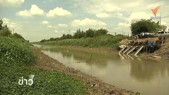 ระดับน้ำคลองระพีพัฒน์เพิ่มขึ้น กปภ.ธัญบุรีเร่งสูบน้ำผลิตประปา