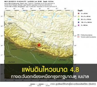 แผ่นดินไหวขนาด 4.8 ในเนปาล