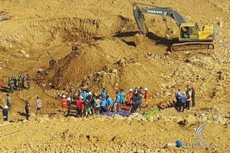 ดินถล่มในเหมืองหยกทางภาคเหนือของเมียนมา ยอดผู้เสียชีวิตพุ่ง 90 คน