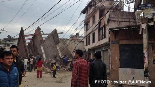 เกิดเหตุแผ่นดินไหวในเนปาล หนักสุดในรอบ 80 ปี
