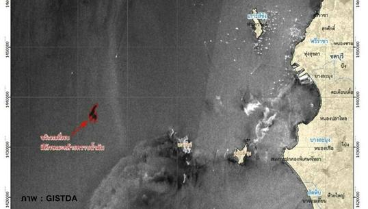 คราบน้ำมันโผล่บริเวณใกล้เกาะไผ่ บางละมุง จ.ชลบุรี กินพื้นที่เกือบ 3 ตร.กม.