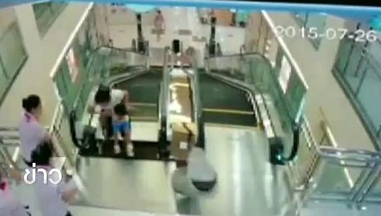 หญิงชาวจีนตกช่องบันไดเลื่อนในห้างสรรพสินค้าเสียชีวิต
