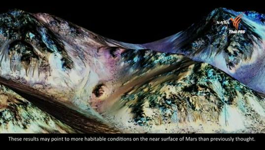 องค์การนาซายืนยันมีธารน้ำเค็มบนดาวอังคาร