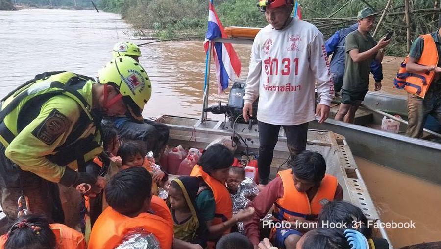 Laos dam collapse