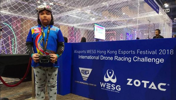 """Nong Milk"" wins drone racing championship in Hong Kong"