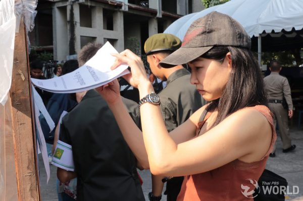 Bangkok voters crowd polling stations