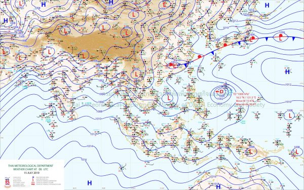 TMD issues first weather warning after tropical storm 'Mun'