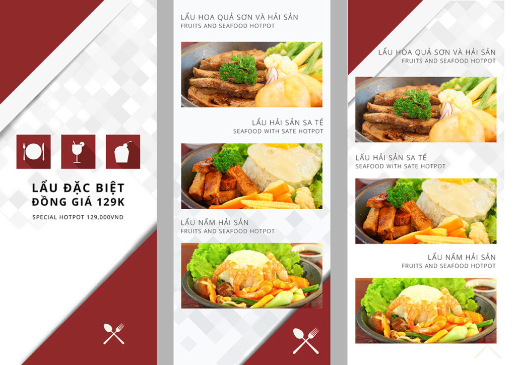 Mẫu menu nhà hàng lẩu đặc biệt