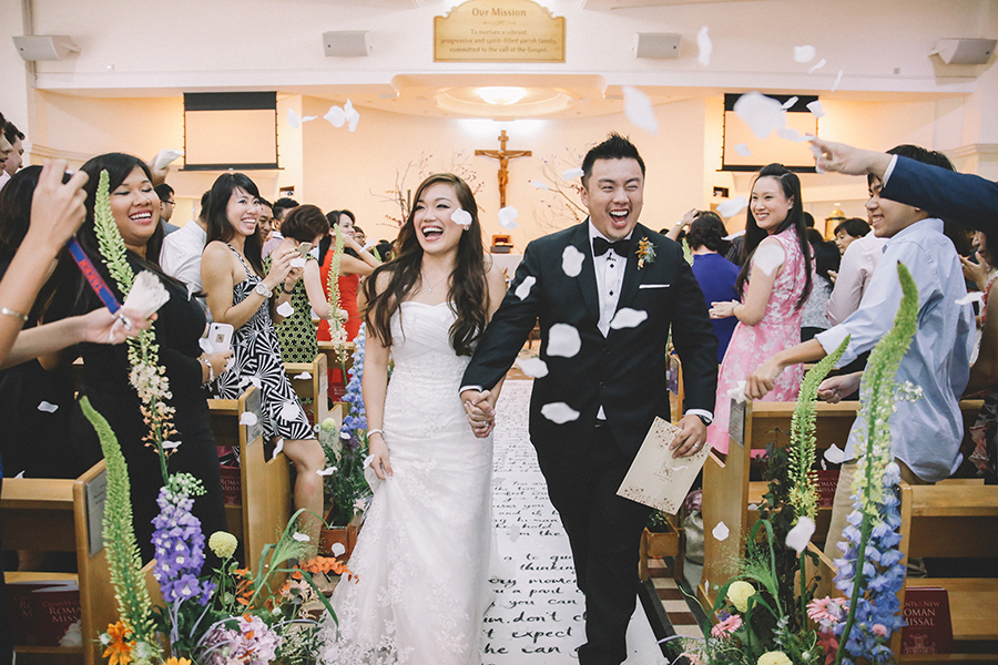 Wedding Gift For Bride Singapore : Charles and Sarah s Church Wedding with a Calligraphed Aisle Runner