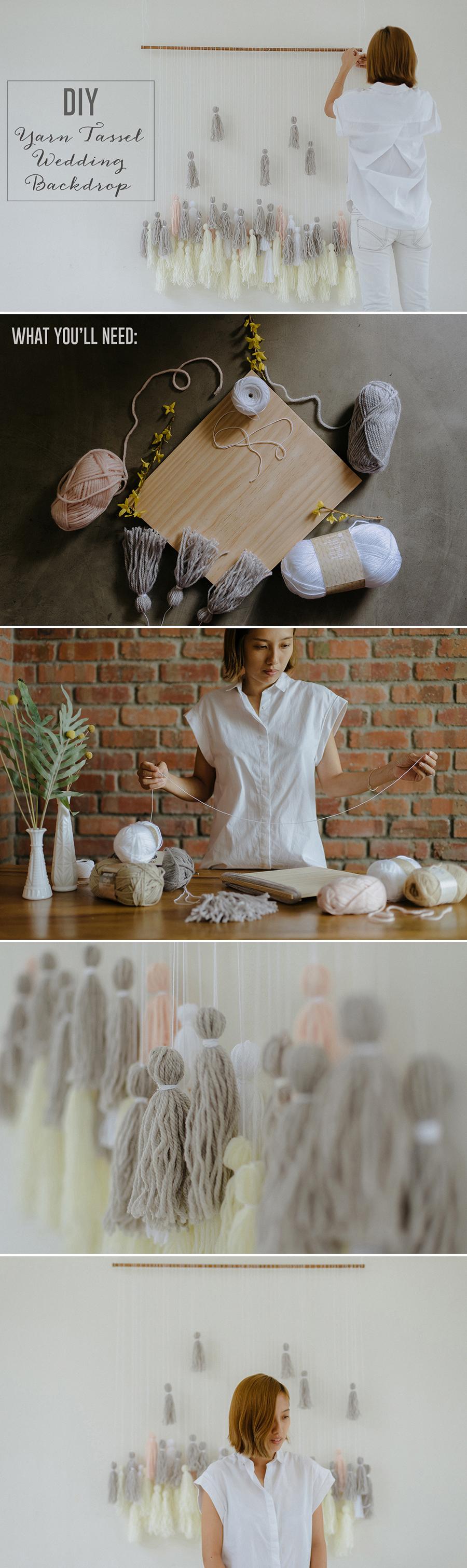 22-DIY-Yarn-Tassle-Wedding-Backdrop