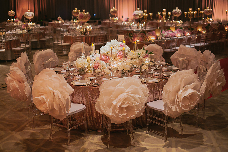 The wedding scoop pastel pastries regal floral arrangements by wishing tree and a touch of sparkle rounded out the wedding fit for royalty shot by louis loo junglespirit Gallery