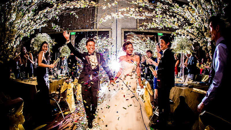 An Enchanted Forest Wedding at W Hotel Singapore: Mark and Stephanie