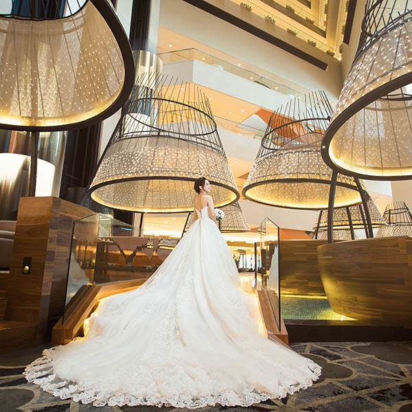 Pan pacific singapore wedding 2018 dress