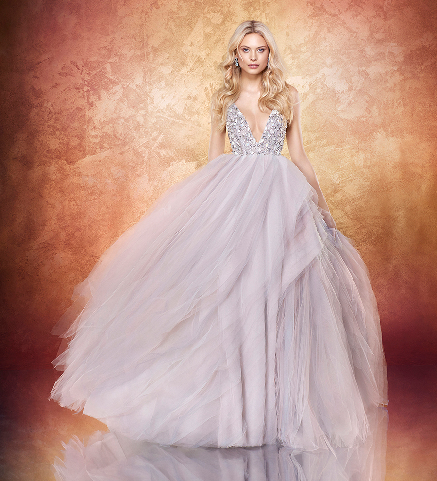 81ff2ea9c35a Feminine with just a hint of edginess, Hayley Paige's 2017 collection is a  delight of sparkly and matte pairings, and textured details such as hand ...