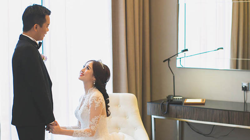 Purple Splendour: Jwin and Pei Lu's Wedding at The Majestic Hotel