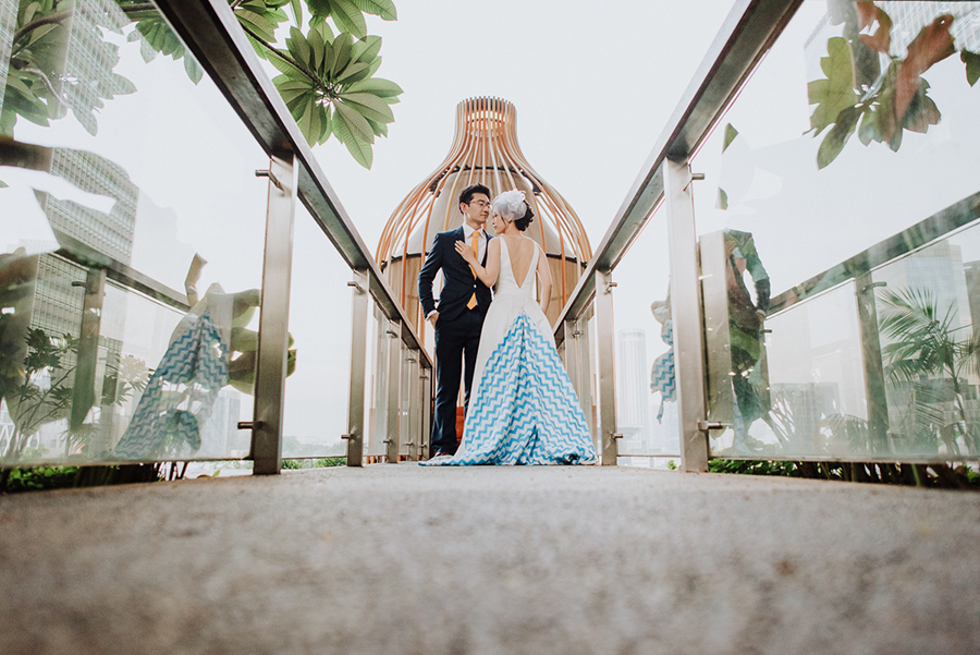 Eujin and Yingying's Pop Art-Themed Singapore Wedding at Parkroyal on Pickering