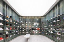 phong cách thiết kế shop giày