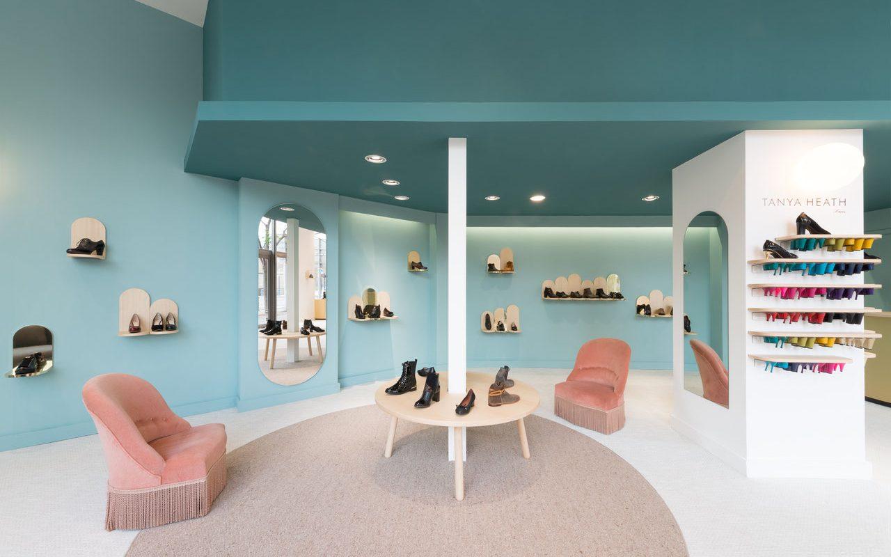 thiết kế shop giày nữ
