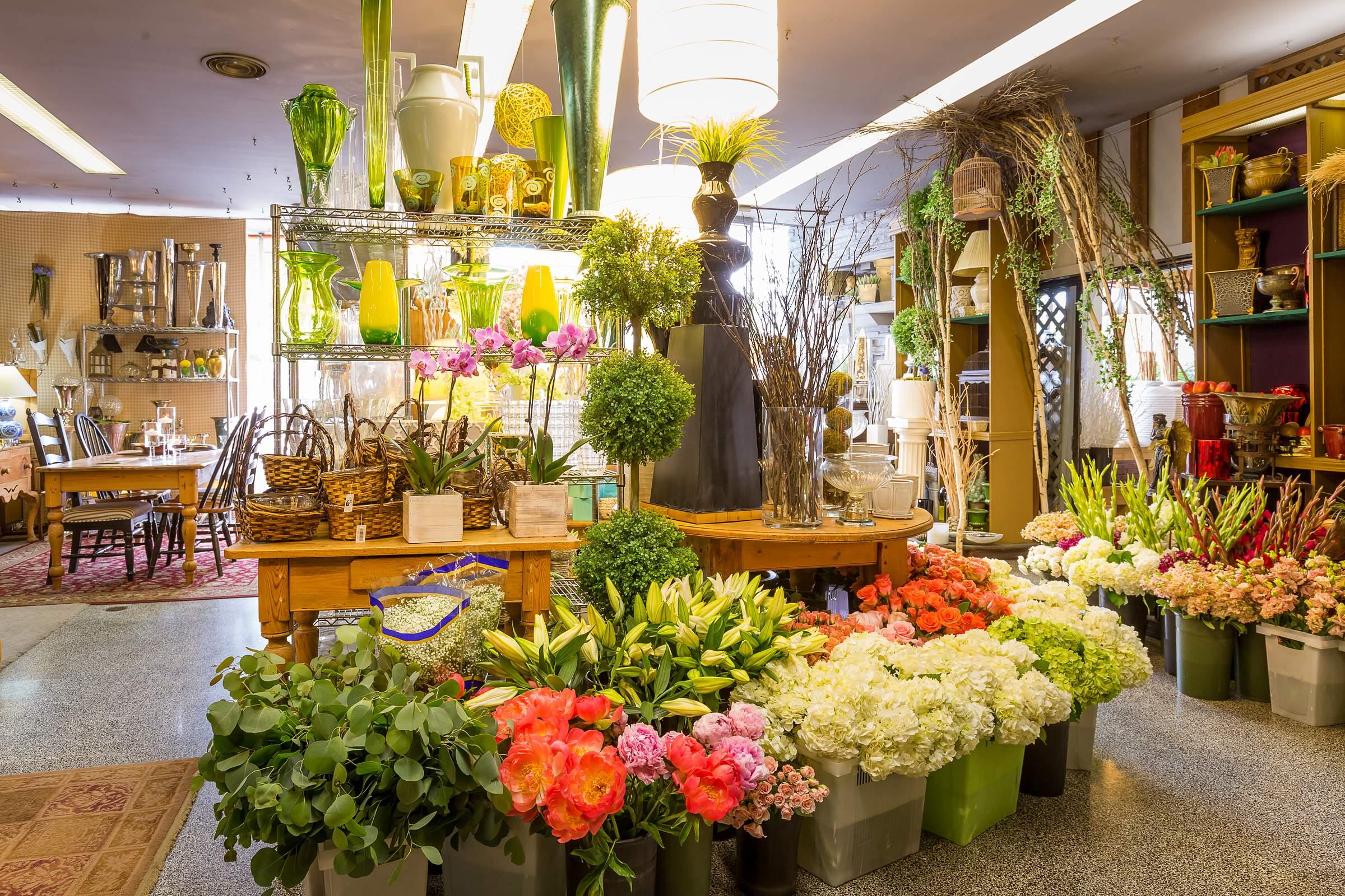 thiết kế shop hoa tươi