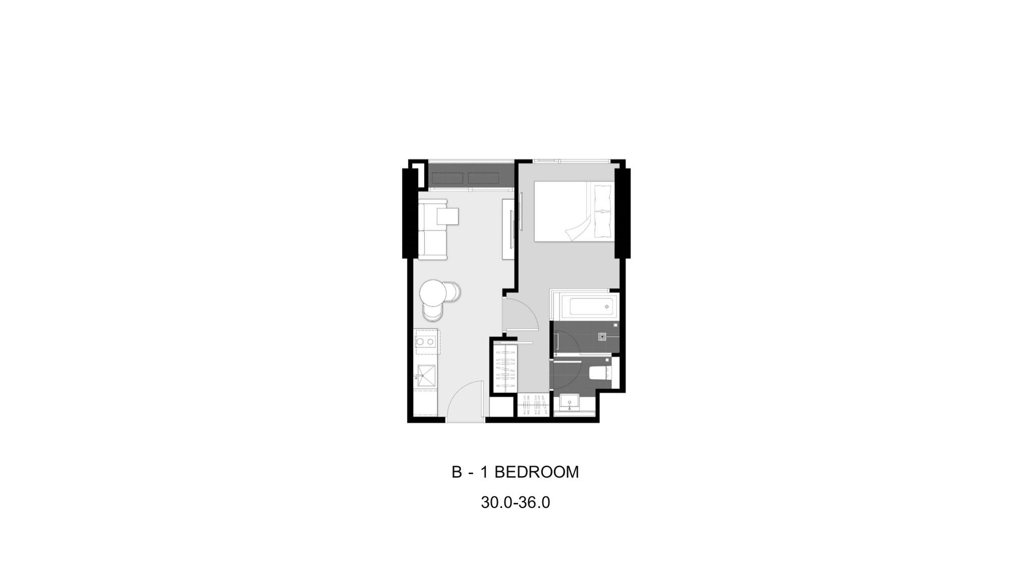Park Origin Thonglor Unit Plan B1