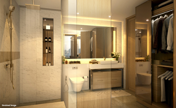 Bathroom with Walk-in Closet