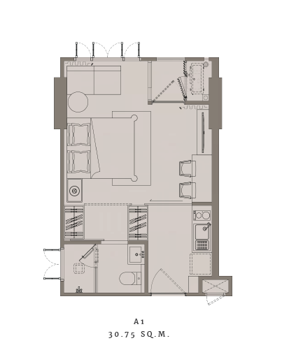 The Reserve Sukhumvit 61 Unit Plan A1