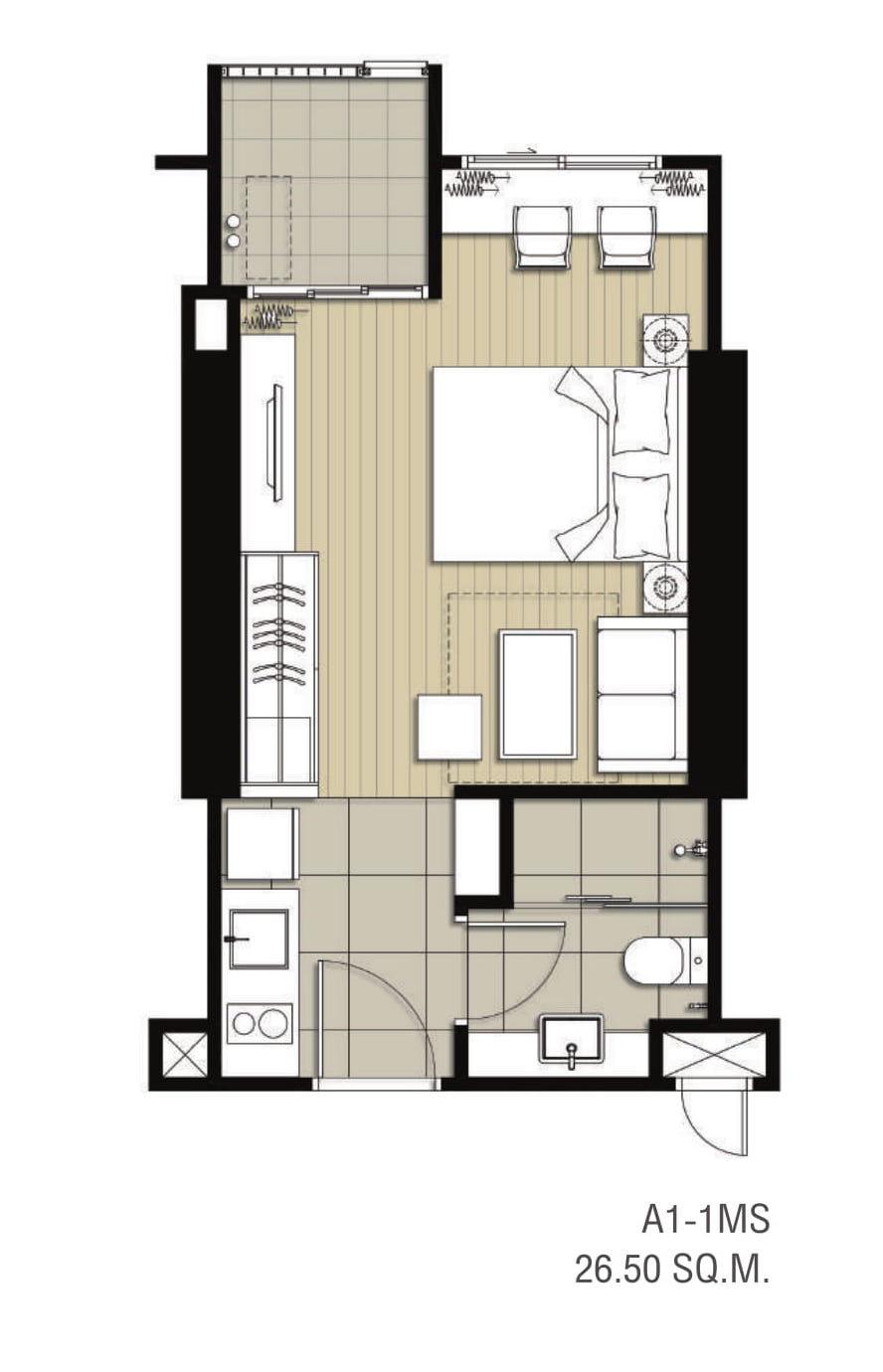 Ideo Sukhumvit 93 Unit Plan A1 1MS