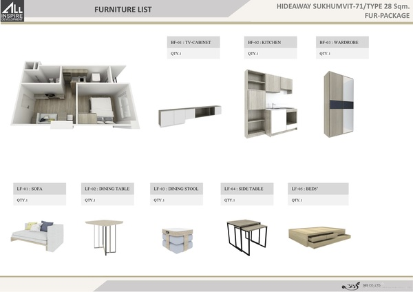 Furniture package 28 sqm